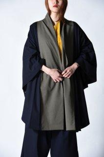 YANTOR Torowool Bi-color kesa coat olive gray×navy OVIE STUDIO limited