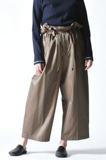 ATHA HYBRID GATHER WIDE TROUSERS / brown