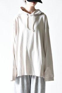 crepuscule garment dye hoodie / ivory