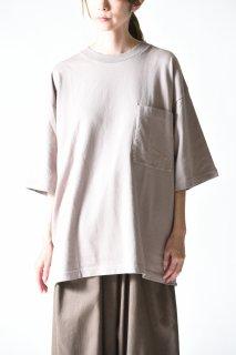 crepuscule ハーフスリーブポケットT gray beige