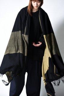YANTOR Boder Jacquard Khadi Stole yellow