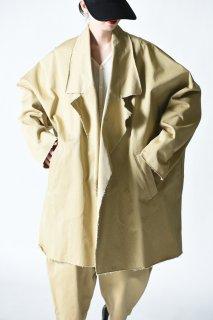 My Beautiful Landlet カットオフチノビッグコート beige