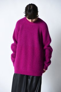 ATHA MOHAIR CREW NECK KNIT purple