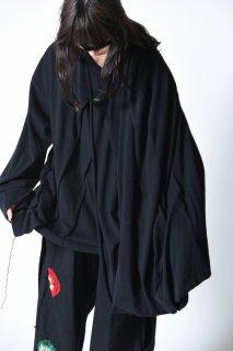 Leh 千層衣 Long Sleeve T-shirt black
