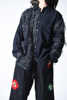 Leh Pin Tuck Dress Shirts black