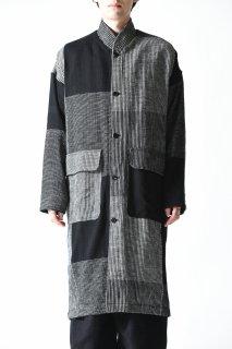 YANTOR 16ply block khadi-jacquard kurta shirts Coat