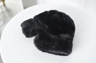 KAIKI ファーロシアン帽 black