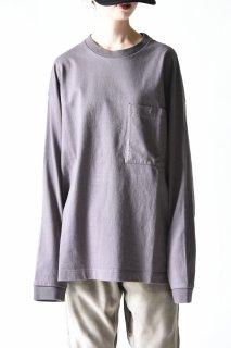 crepuscule ロングスリーブポケットT dark gray