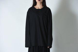 BISHOOL Old Cotton Henry Neck Pullover black