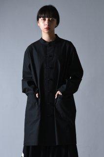 BISHOOL Old Cotton China Big Shirt black