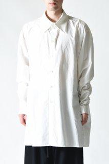 BISHOOL Old Cotton LS Big Shirt white