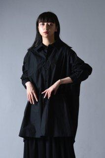 BISHOOL Old Cotton LS Big Shirt black