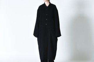 BISHOOL Angora Wool  3 Button Long Coat