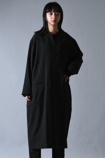 BISHOOL Wool Gabardine 01 Rapel Long Coat dark khaki