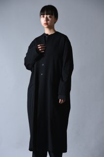 BISHOOL Wool Gabardine 01 Rapel Long Coat black