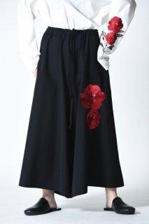 BISHOOL Embroidery Wool Gabardine Easy 袴 Pants bara