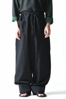 BISHOOL Wool Gabardine Super Big Pants