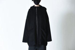 BISHOOL Angola Wool Hood Big Jacket
