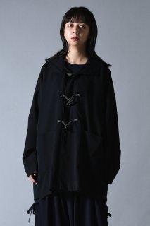 BISHOOL Wool Gabardine Half Duffle Coat