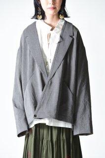 VOAAOV テーラードラペル切替オーバージャケット gray
