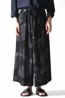 BISHOOL print pleats 袴 pants