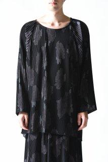 BISHOOL print pleats big pullover