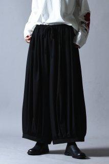 BISHOOL Wool Gabardine Pumpkin Drape Pants