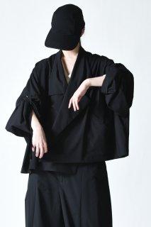 My Beautiful Landlet レーヨン紐ワイドジャケット black