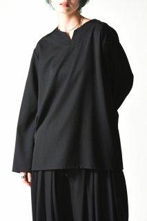 BISHOOL Wool Gabardine 01 Rapel Pullover black