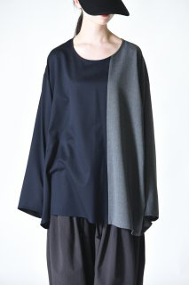 BISHOOL Bi-Color Wrap Big Pullover