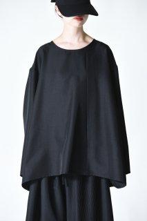 BISHOOL Pleats Wrap Big Pullover