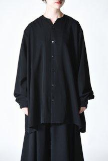 BISHOOL Wool Gabardine 01 Rapel Big Shirt black