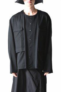 BISHOOL Wool Gabardine 4 Pocket Shirt Blouson