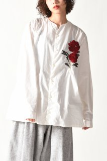 BISHOOL Embroidery Old Cotton 01 Rapel Shirt white