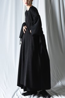 BISHOOL Dyed Bleach Twill All In One Unisex Skirt black×gray
