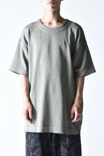 YANTOR Plating Knit Light Wide Pullover greenish-gray