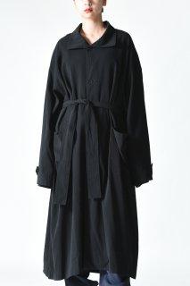tac:tac TWIST YARN COAT black