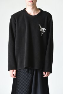 BISHOOL Emb Fleece Pullover