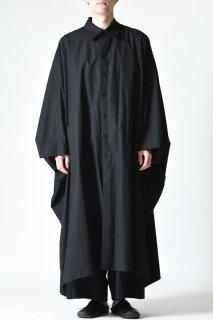 BISHOOL Old Cotton Over Mantle Coat black
