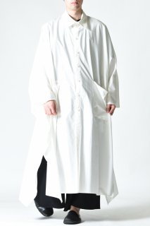 BISHOOL Old Cotton Over Mantle Coat white