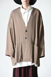 BISHOOL Wool Gabardine Wide Jacket beige