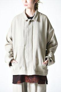 YANTOR 6ply Khadi Flyfront Shirt Jacket White