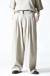 YANTOR 6ply Khadi 2tuck Wide Pants White