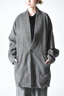 YANTOR Sumi-Dyed 6ply Khadi Long Pullover Sumi Gray