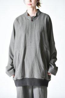 YANTOR Stone Nep Half Zip Pullover Gray
