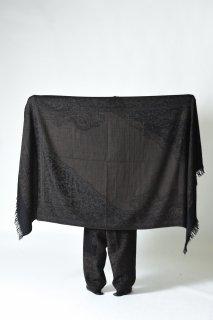 YANTOR Tibetan Paisley Jacquard Stole Black