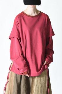Leh Layered L/S T-shirt red