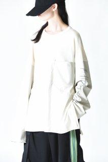 Leh Leather Long Sleeve T-shirt off white