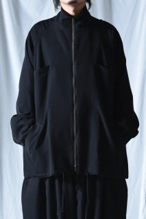 BISHOOL Wool Gabardine ZIP Big Blouson