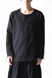 BISHOOL Woven Wool Fabric Cut Off Pullover